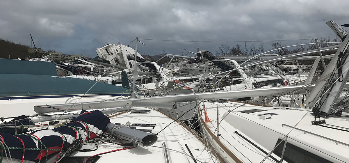 Wrecked boats